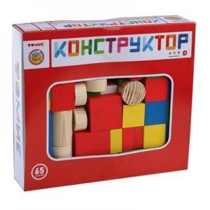 """Конструктор """"Цветной"""" 65 дет."""