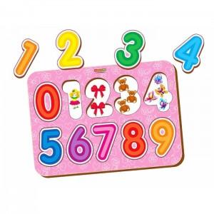 Рамка-вкладыш «Изучаем цифры 4»