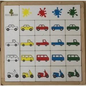 Игрушка деревянная «Классификация Цвета машинки»