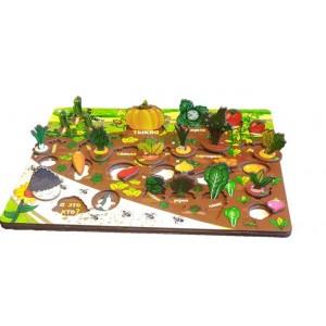 "Набор ""Овощи на грядке"" (3D огород, развивающая доска)"
